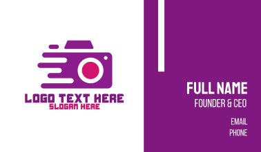 Fast Camera Photography Business Card