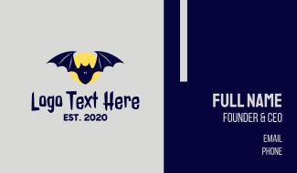 Night Moon Bat  Business Card