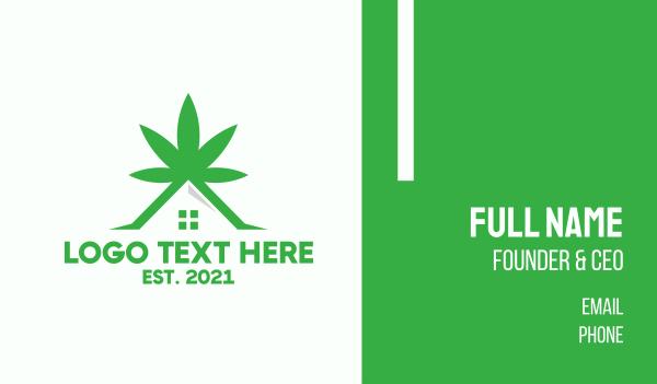 eliquid - Green Cannabis Dispensary Business card horizontal design