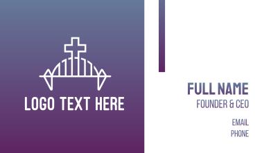 Modern Church Bridge Business Card