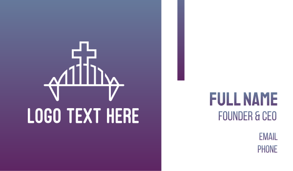 baptist - Modern Church Bridge Business card horizontal design