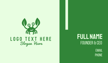Green Crab Business Card