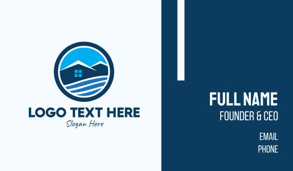lodge - Mountain Top House Business card horizontal design