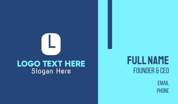 typewriter - Blue Typeface Business card horizontal design
