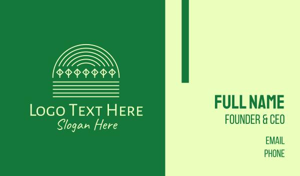 lineart - Green Natural Forest Park Business card horizontal design