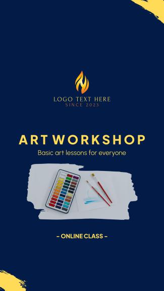 Art Class Workshop Facebook story