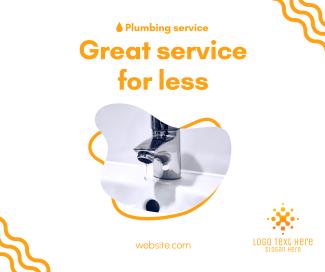 Great Plumbing Service Facebook post