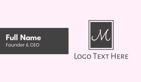 casual -  M Square Business card horizontal design