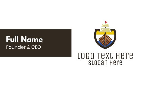 vessel - Seaside Emblem Business card horizontal design