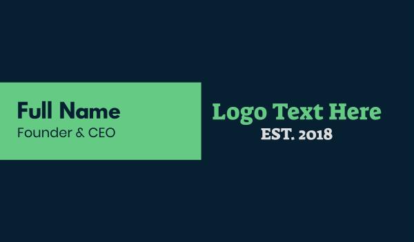 small business - Strong Serif Text Wordmark Business card horizontal design