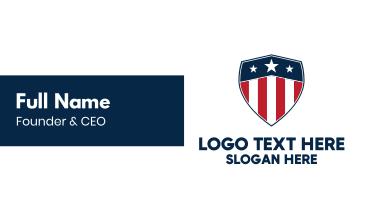 Patriotic USA Shield Business Card