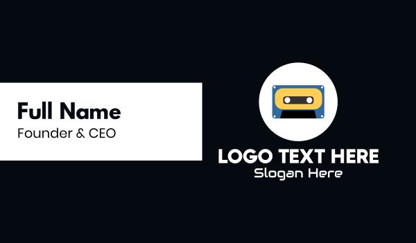 tape - Retro Casette Tape Business card horizontal design