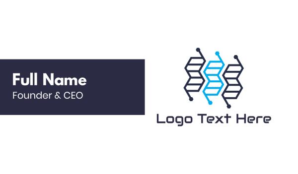genes - Genetics Tech Business card horizontal design