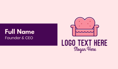 Loveseat Love Couch  Business Card