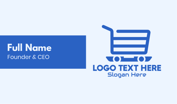 display - Online Shopping Cart Business card horizontal design