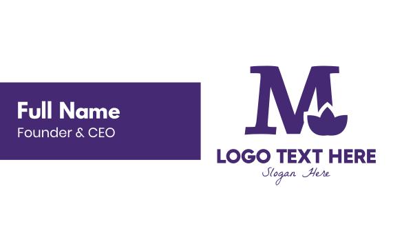 violet - Violet M Flower Business card horizontal design
