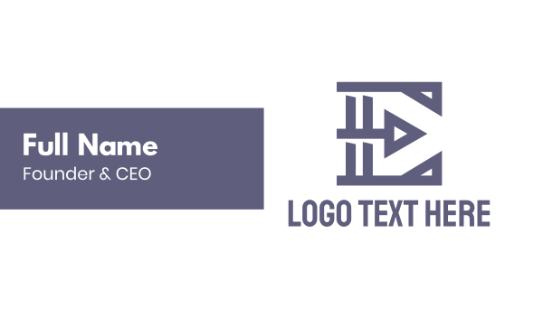 business solutions - Geometric Shape E Business card horizontal design