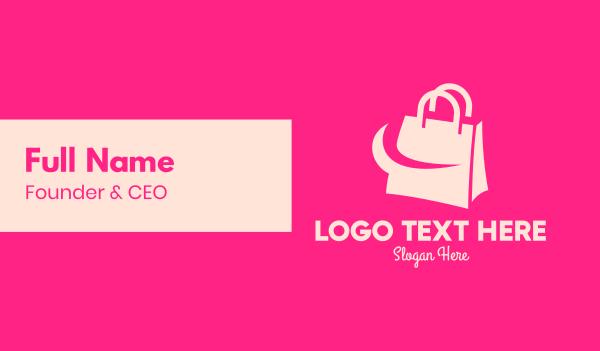 shopify - Modern Shopping Bag Business card horizontal design