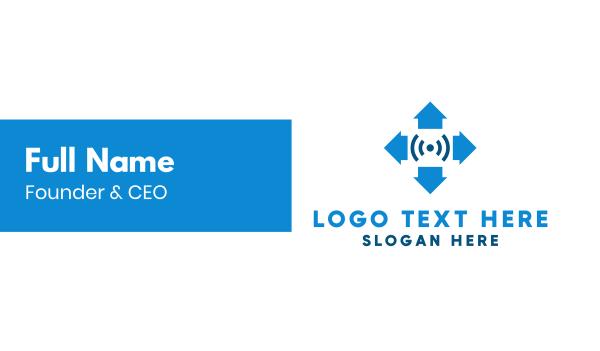 internet of things - Arrow Signal Business card horizontal design
