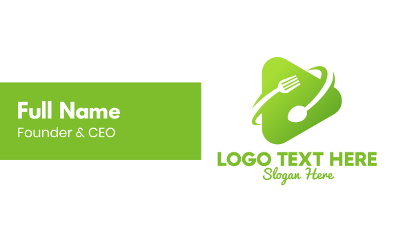 vegetarian restaurant - Food Media Player Business card horizontal design