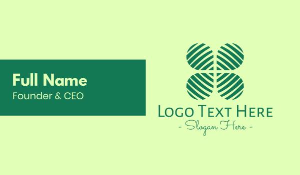 four leaf clover - Vegan Leaf Clover Business card horizontal design