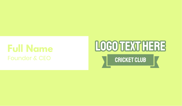 cricket - Cricket Club Business card horizontal design
