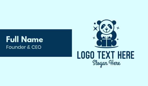 plushie - Toy Store Gift Panda Business card horizontal design