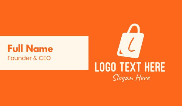 minimart - Shopping Bag Letter Business card horizontal design