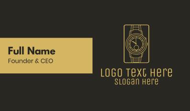 Gold Wristwatch Watch Business Card