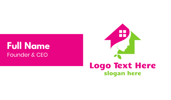 facial care - Derma House Business card horizontal design