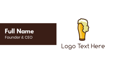 Beer Head Business Card