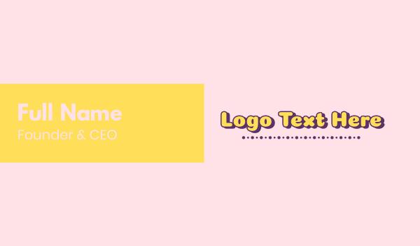 purple girl - Cute Text Business card horizontal design