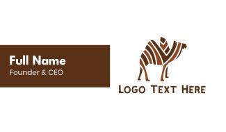 Mosaic Stripe Camel Business Card