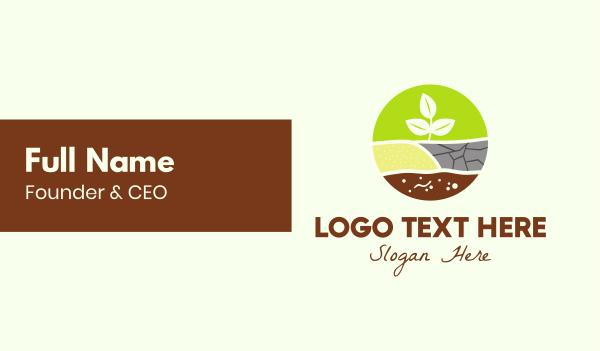 soil - Agricultural Planting Business card horizontal design