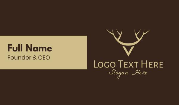 woodland animal - Minimalist Wild Deer Business card horizontal design
