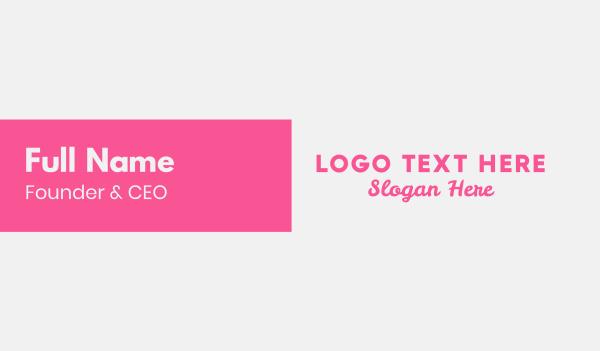 pastry shop - Pink Feminine  Business card horizontal design