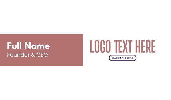 vogue - Modern Thin Pink Business card horizontal design