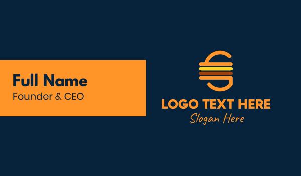 food vlog - Retro Cheeseburger Business card horizontal design