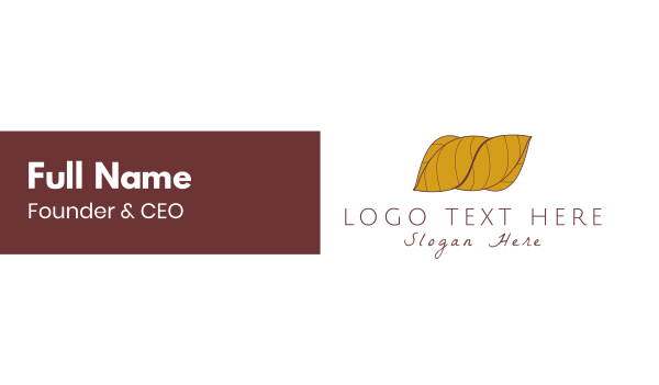 tobacco - Wrapped Leaves Business card horizontal design
