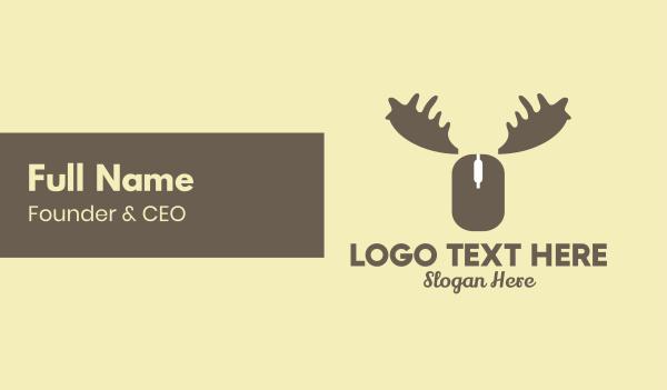 reindeer - Online Moose Business card horizontal design