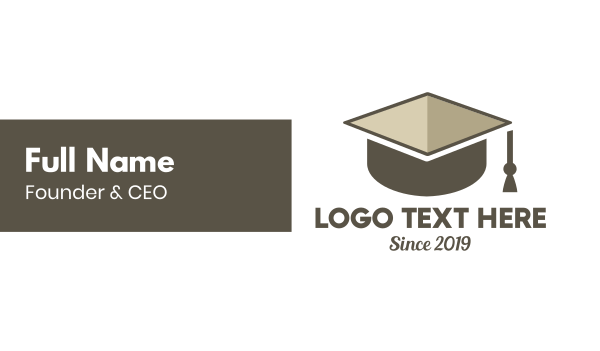 scholarship - Graduation Box Business card horizontal design