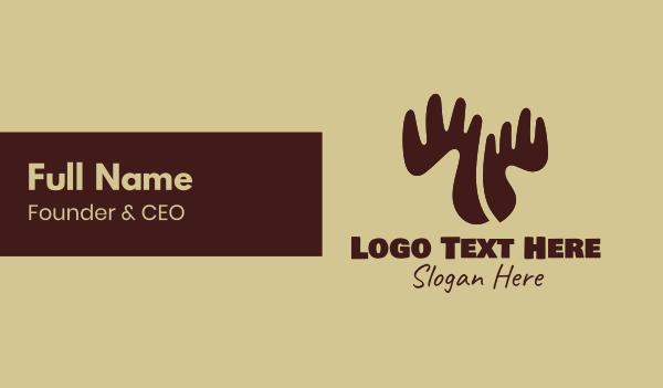 antlers - Antler Tree Business card horizontal design