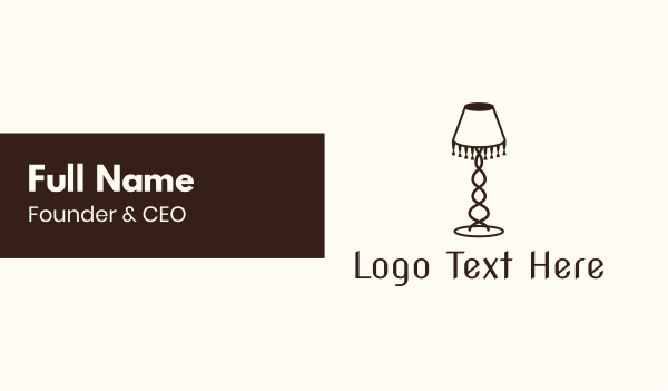 furniture - Retro Lamp Lighting Business card horizontal design
