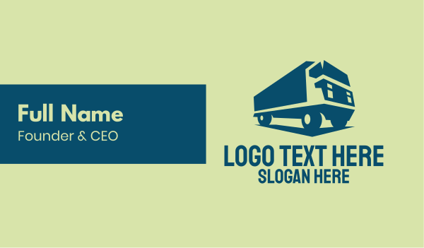 garbage truck - Freight Truck Transport Business card horizontal design