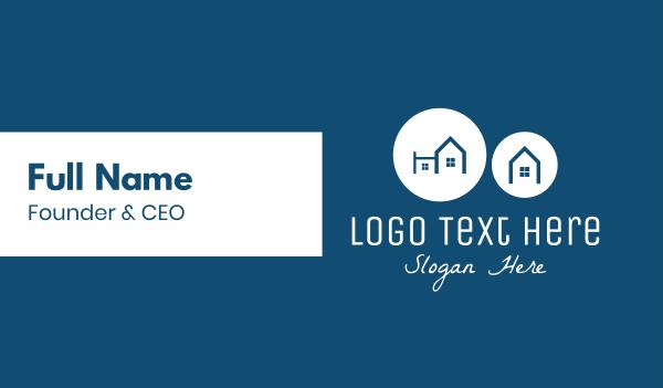 townhouses - Blue Neighborhood Business card horizontal design