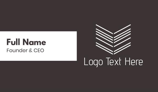 floss - Arrow Lines Business card horizontal design