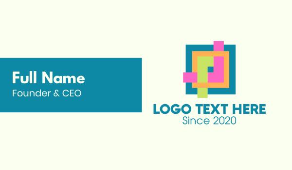 photo album - Colorful Photo Editing App Letter P Business card horizontal design