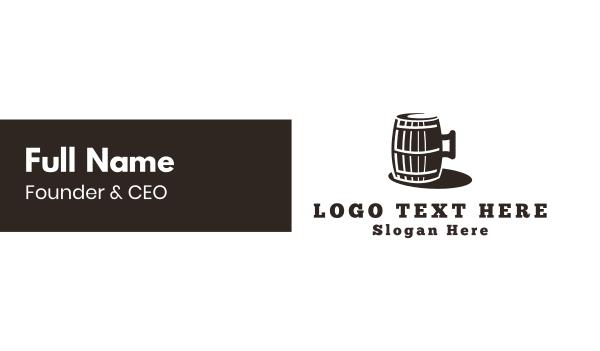 historical - Beer Barrel Business card horizontal design