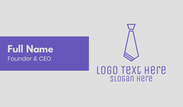 recruiter - Blue Stylish Tie Business card horizontal design