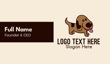 Brown Puppy Dog  Business Card